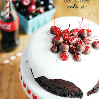 Chocolate Cherry Cola Cake.