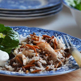 Lebanese Roast Chicken and Hushwe.