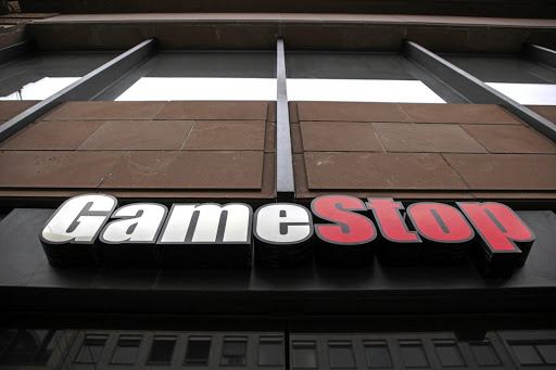 A logo on a GameStop store in Frankfurt, Germany. Picture: Alex Kraus/Bloomberg