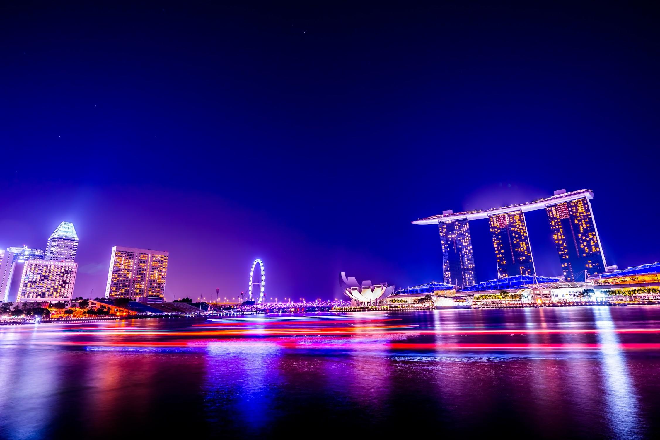 シンガポール マリーナ・ベイ・サンズ 夜景3