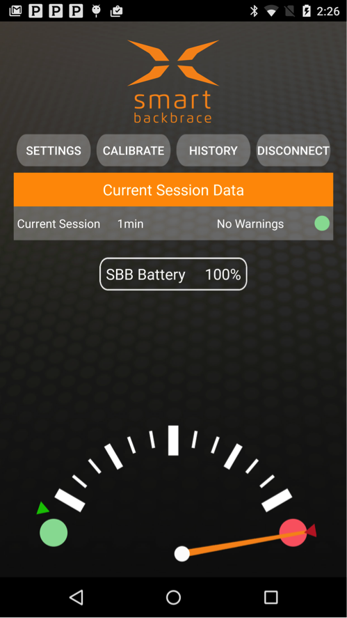 Smart Back Brace - SBB App- screenshot