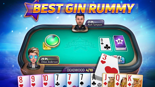 Gin Rummy Stars - Online Card Game with Friends! apktreat screenshots 1