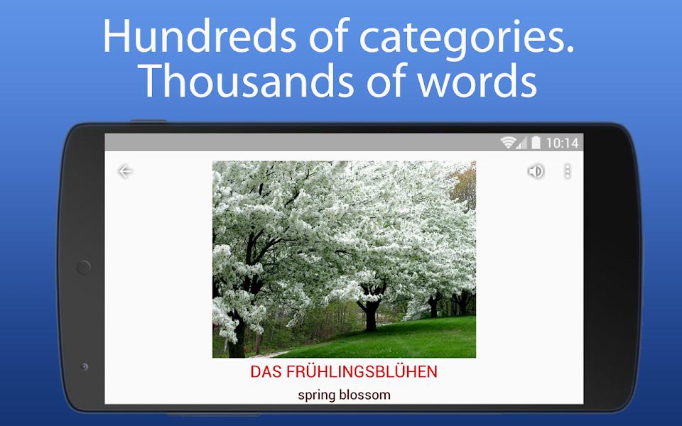 iSpeak learn words in 8 language English German
