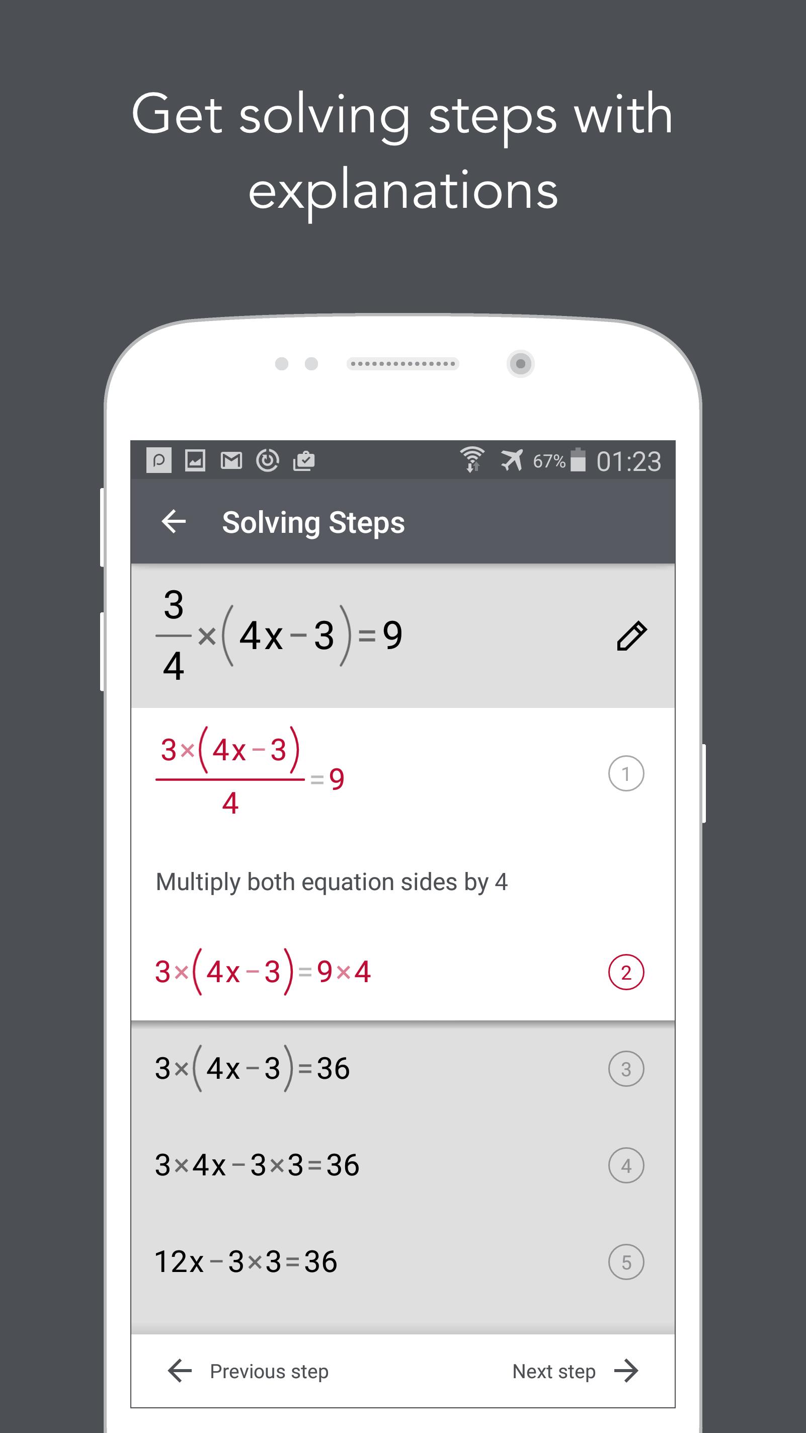 Photomath - Camera Calculator (Android) reviews at Android
