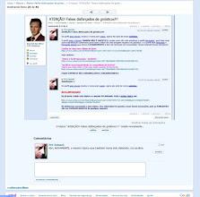 Photo: Eles deletavam os tópicos de alerta e o Pró-Samael reintroduzia-os todos novamente.