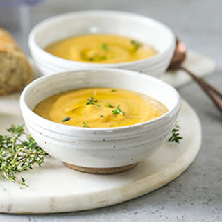 Creamy Roasted Vegetable Soup.