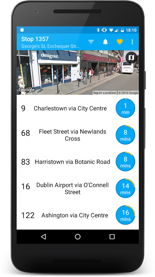Next Bus Dublin- screenshot