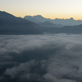 Above the top by Sovan Chattopadhyay - Landscapes Cloud Formations