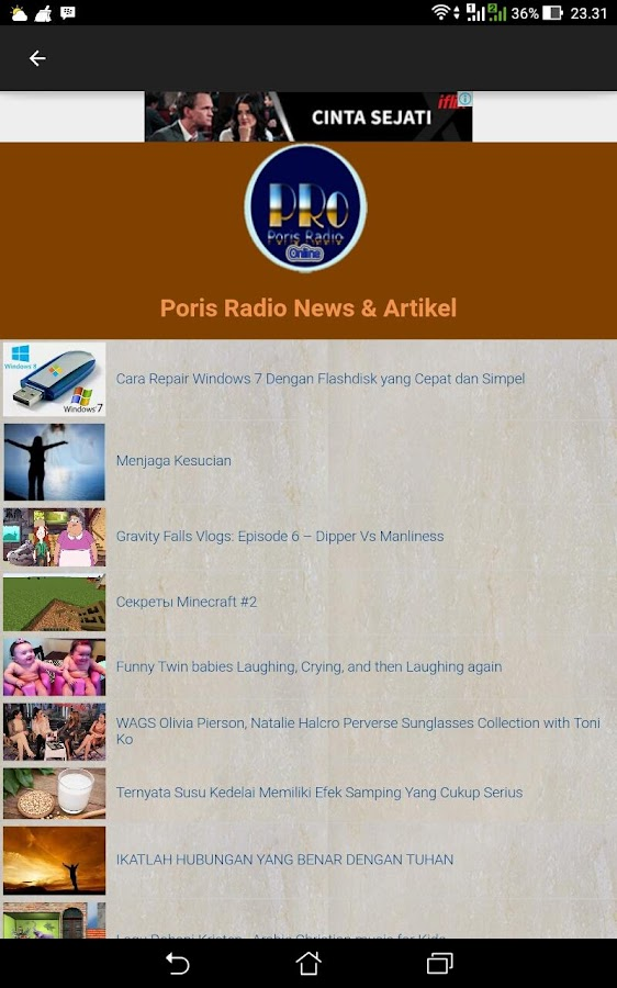 PORIS RADIO STREAMING & NEWS- screenshot