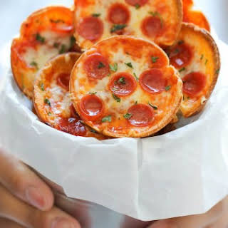 Mini Deep Dish Pizzas.