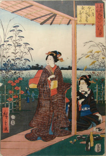 Illustration du Genji Monogatari, 19th century