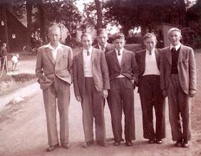 Photo: Berend Nijhof, Geert Jansen, Cornelis Klinkhamer, Jo Heiminge, Jan Oosting en Roelof Vedder Gzn.
