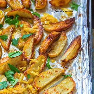 Roasted Garlic Potato Wedges.