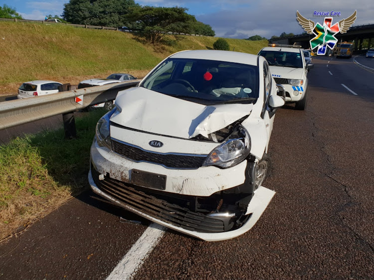 A collision between a truck and car on the M7 Durban Bound near N3.