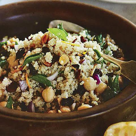 Inside Karen S Kitchen Red Quinoa Couscous Arugula Pimiento