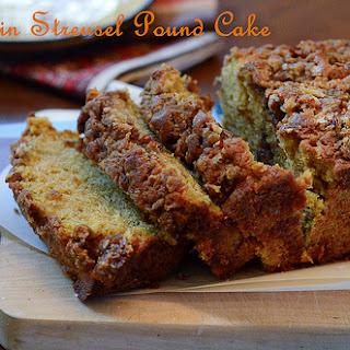 Pumpkin Streusel Pound Cake