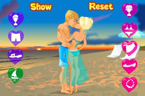 Kissing on a Beach Dress Up