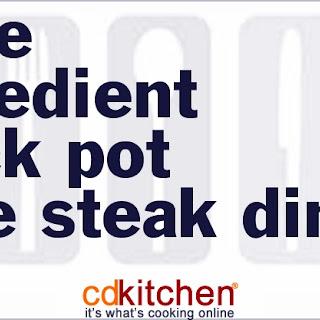 Slow Cooker Three-Ingredient Cube Steak Dinner.