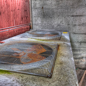 Industry cooling fans by Benny Høynes - Buildings & Architecture Decaying & Abandoned ( ballstad, hdr, norway, industry, lofoten, canon )