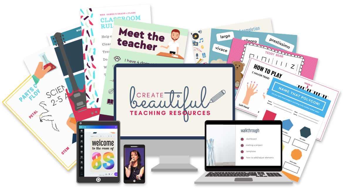 Create Beautiful Teaching Resources, Fast Online Course