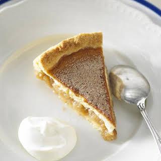 Creamy Apple Cinnamon Pie.
