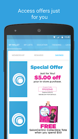 android SalonCentric Screenshot 1