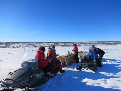 Arctic Canada Inuvik Winter Camping Tundra Dog Sledding // Lunch Break