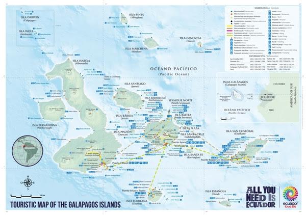 Mapa Galápagos