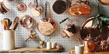 Vintage Copper for Holiday Entertaining