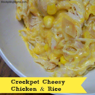 Crockpot Cheesy Chicken & Rice.