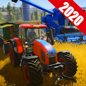 Real Tractor Thresher Games 2020:Farming Challenge icon