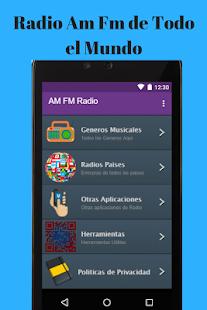 Radio y Emisoras FM AM Gratis Estaciones del mundo - náhled