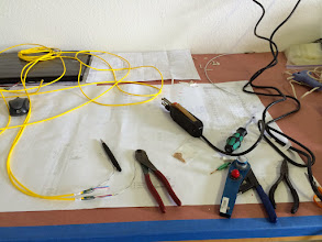 Photo: Working on wiring.  Lots and lots of wires...