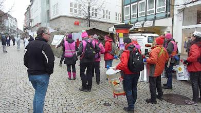 Photo: und noch mehrfach die Attac Trommlergruppe aus Braunschweig