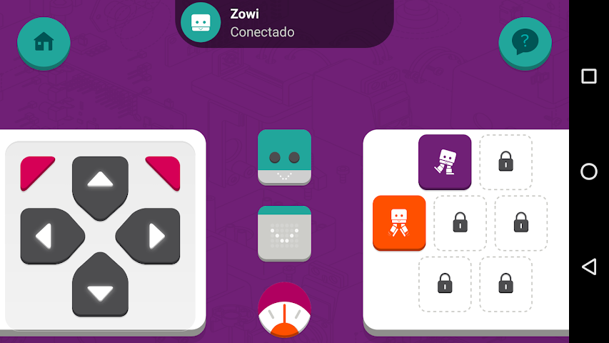android Zowi App Screenshot 2