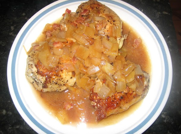 Add onion to the pan; cook until tender. stirring constantly. Add cider and broth;...