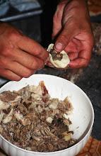 Photo: 03367 ケシクテン/干し肉料理/ボウズ、ベンシ/包子/皮で干し肉を包む