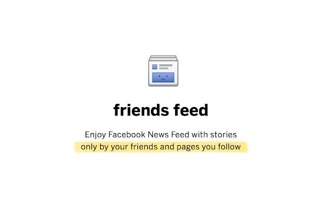 friends feed for Facebook Screenshot