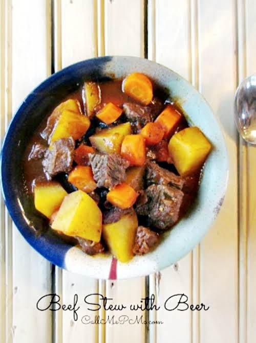 """Beef Stew with Beer """"This rich and delicious Beef Stew with Beer..."""