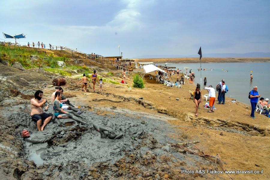Экскурсия и отдых на Мертвом море. Лечебная вода и грязи. Пляж Неве Мидбар.