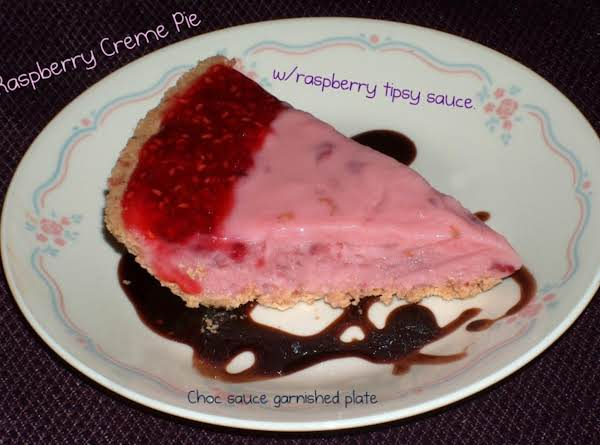Raspberry Creme Tipsy Pie Recipe