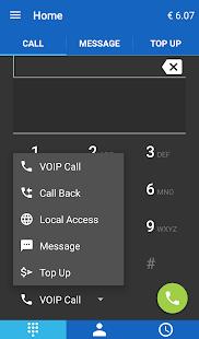 SmartVoip volání do zahraničí - náhled
