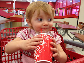 Photo: Giving the side-eye to people who judge her icee at 9 am.