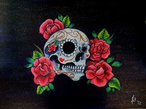Skull And Roses Live Wallpaper