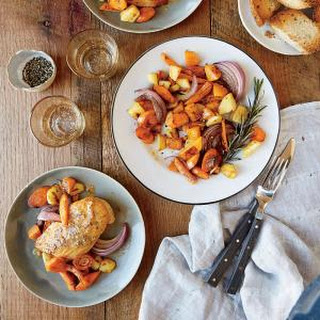 Mustard-Glazed Chicken with Roasted Vegetables