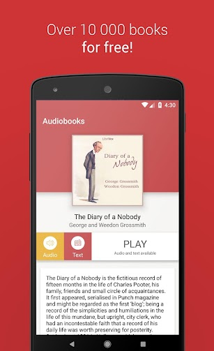 Free Books and Audiobooks screenshot for Android
