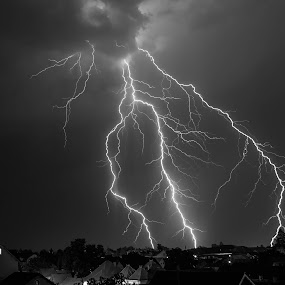 Only light by Florin  Galan - Black & White Landscapes ( blackandwhite, lightning, summer, beauty, landscape, city,  )
