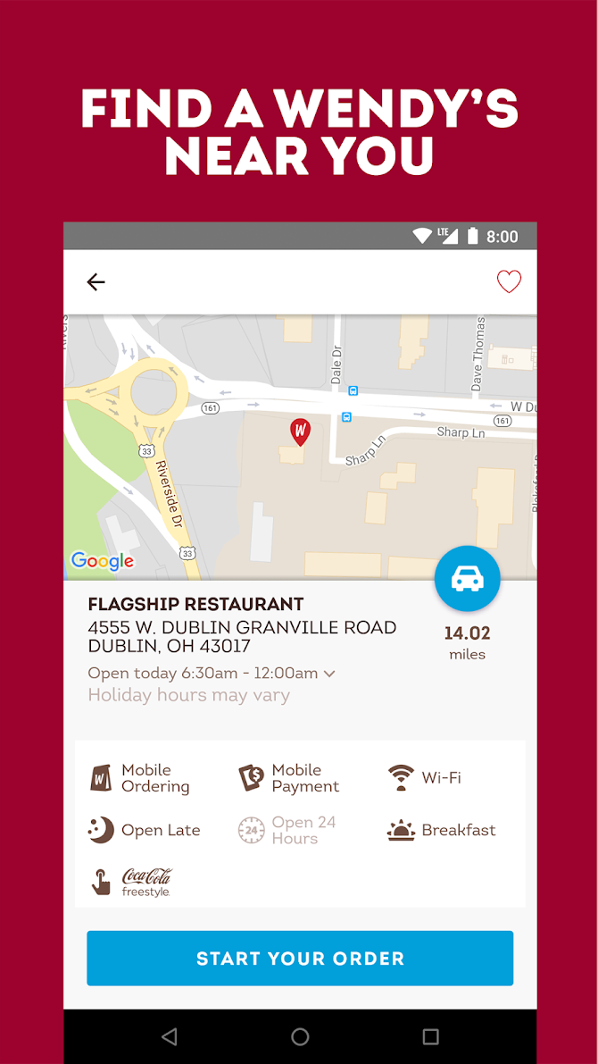 Wendy's – Food and Offers Android 3