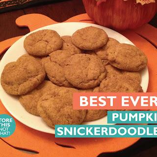 Best Ever Pumpkin Snickerdoodles