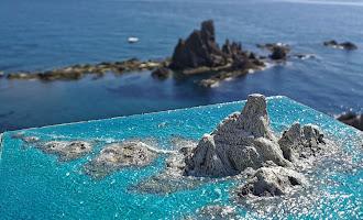 Las playas de Almería, en dioramas